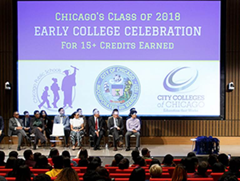 Chicago's class of 2010 early college celebration for 15 plus credits earned ceremony