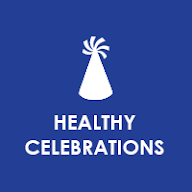 Healthy Celebrations Button