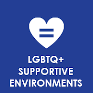 LGBTQ+ Supportive Environments Button